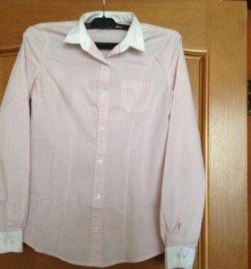 Рубашка в полоску приталенная на 11-12 лет