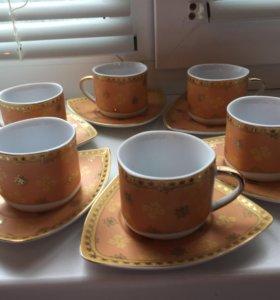 Кофейные чашечки с блюдцами (новые)