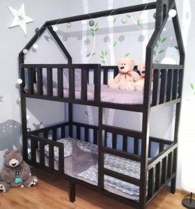 кровать домик, детская кроватка