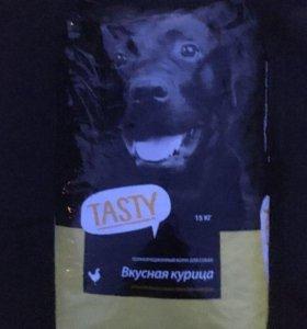 Корм для собак Tasty c курицей. Вес 15 кг.