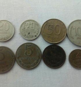 Продам монеты срочно.