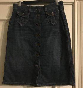 Джинсовая юбка, размер 44