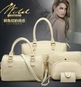 Наборы белых сумок