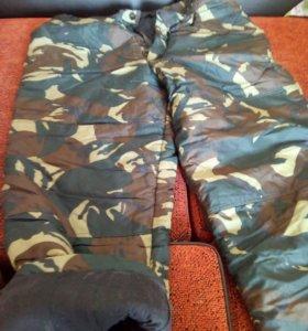 Ватные штаны.