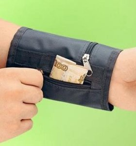 Потайной кошелек для ношения на запястье или шее