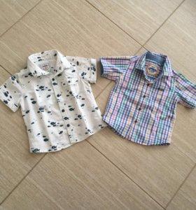 2 рубашки на мальчика 80см