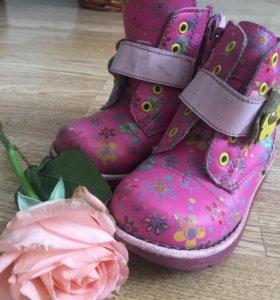 Ботинки для девочки, натуральная кожа, 23 ращмер