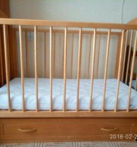 Детская кроватка120*60Можга и матрас