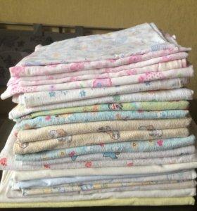 Тканевые пеленки для младенца