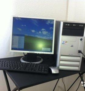"""компьютер HP+17""""жк-монитор"""
