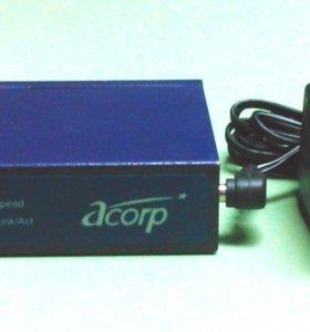 Коммутатор Acorp 8 Port 10/100 Switch