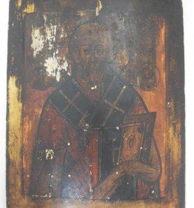 Икона Николай Чудотворец. Живопись 19 век