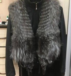 Жилет меховой+ куртка