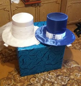 Шляпы свадебные на авто