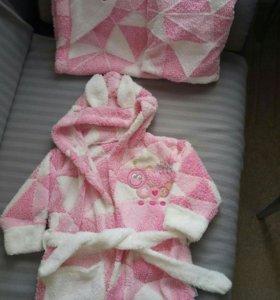 Комплект ( халат и уголок-полотенце)