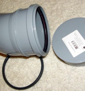Отвод + заглушка для канализации 110 мм / 30 гр