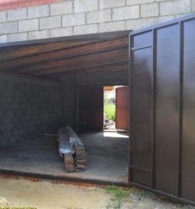 Ворота из металла на гараж.
