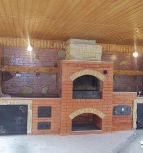 Строительство каминов, печей, барбекю-комплексов