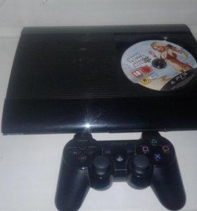 Sony PlayStation 3 super slim 500Gb + 12 игр