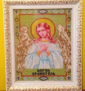 Икона бисером Ангел Хранитель