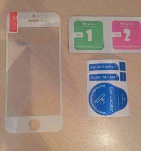Стекло и чехол на iPhone 5, 5s, 5se.