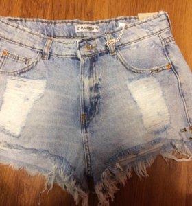Шорты джинсовые Pull & Bear