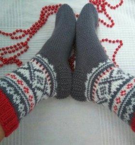 Носочки из мериносовой шерсти