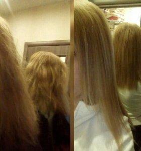Средствa для перманентного выпрямл волос Gold Well