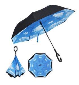 Зонт комбинированный