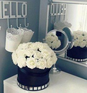 Коробочки с цветами для декора