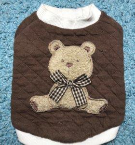 Плюшевый свитер «Мишка» для мелких собак и кошек S