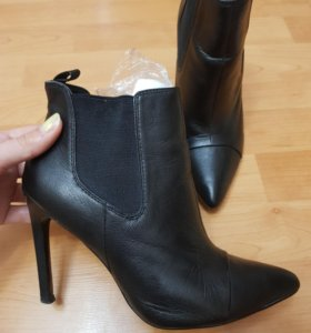 туфли ботинки ботильоны женские сапоги кожа mango