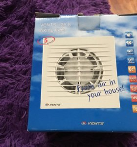 Осевой бытовой вентилятор для ванной