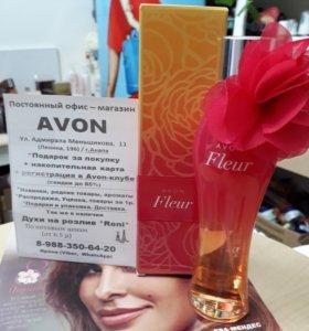 Редкость! Avon FLEUR, парф.вода.