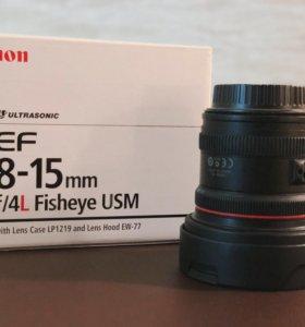 canon Ef 8-15 mm f/4 L Fisheye USM