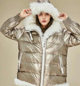 Куртка зимняя на муху и натуральным мехом