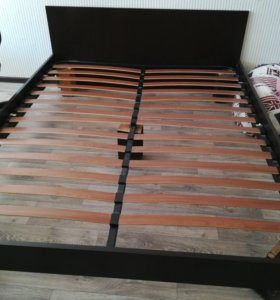 Кровать двуспальная-цвет Венге-160×200