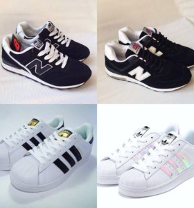 Кроссовки. New balance. Adidas superstar. 35-46