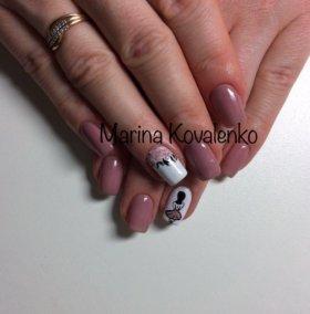 Shellac(гель лак), Наращивание ногтей