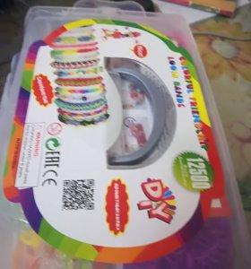 Резинки для плетения браслетов 12500 штук