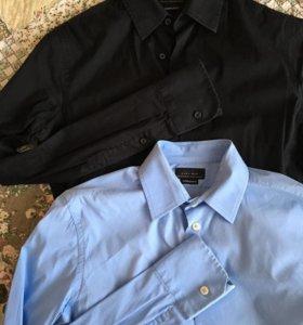 2 мужские рубашки Zara (xs,s) приталеные
