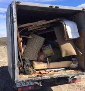 Погрузка и вывоз мусора,старой мебели и т.д