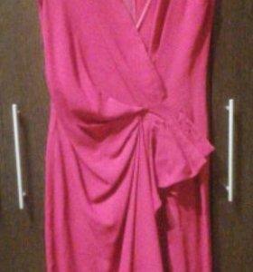 Платье бордовое Moschino с запахом и драпировкой