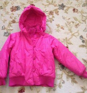 Куртка красивая утепленная на 11-13 лет Новая