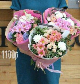 Букеты из цветов к 8 марта