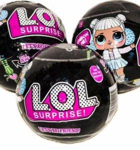 Яйцо сюрприз Лол 🖤⚪💛🔵💚 Lol