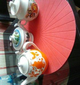 Чайники заварные,сахарница