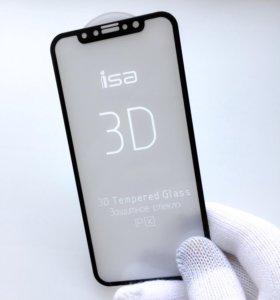 3D защитное стекло на iPhone X / Iphone 10