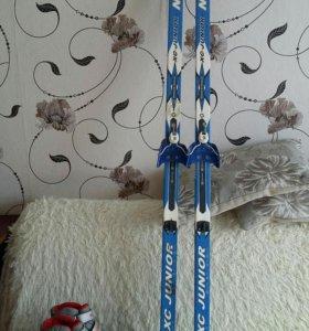 Лыжи,куплены в спортмастере,34-35р.без палок.б.у.