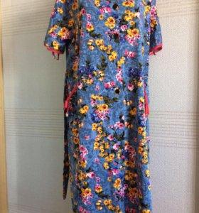 Новые женские халаты в 5-ти расцветках 💯хлопок